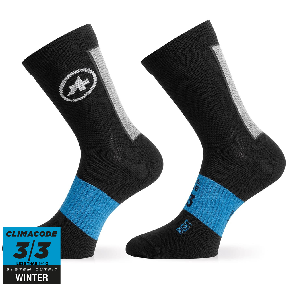 Assos Winter Socks, Sort