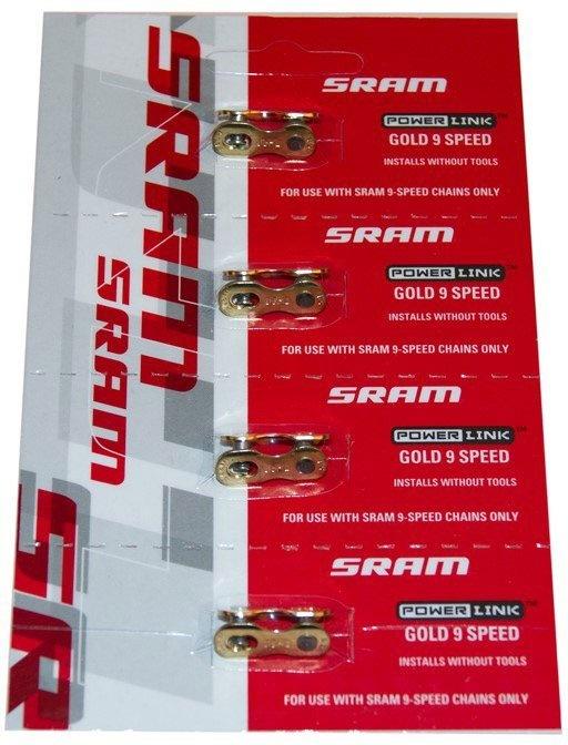 SRAM Chain connector PowerLink 9 speed Gold