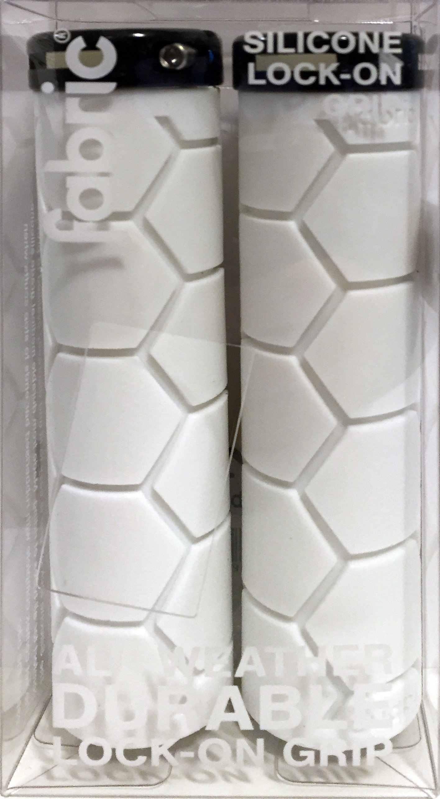 Fabric Silicone Lock-On Grip, WHITE