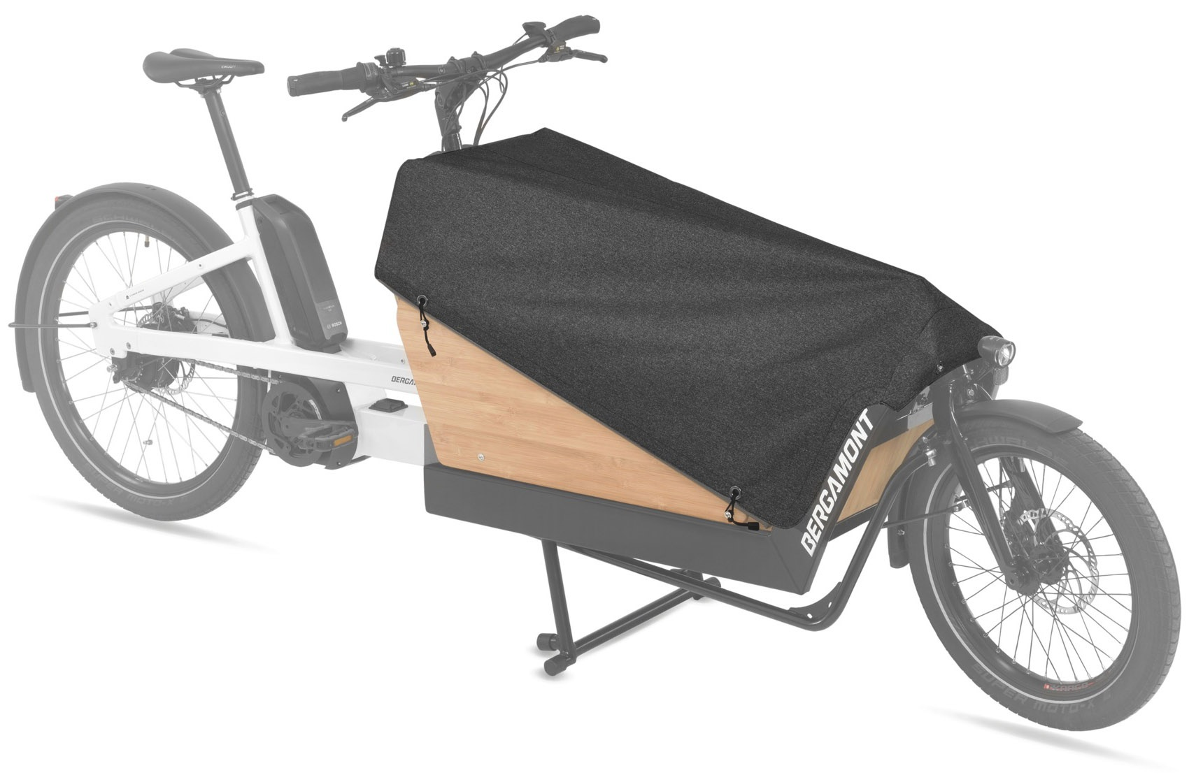 z Bergamont Cargoville - Bambus Bagage Boks Cover 100l