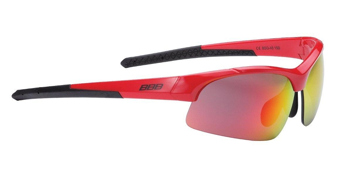 BBB Impress Small Cykelbriller med 3 sæt linser - sort/rød