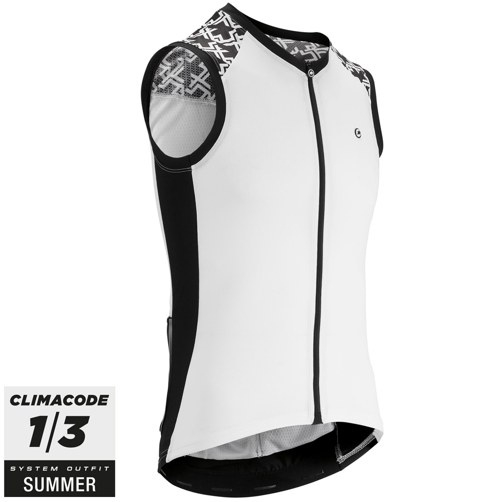 Assos Cykeltrøje Mille GT No Sleeve Jersey, Hvid  »  Cloth Size: XLG (X-Large)