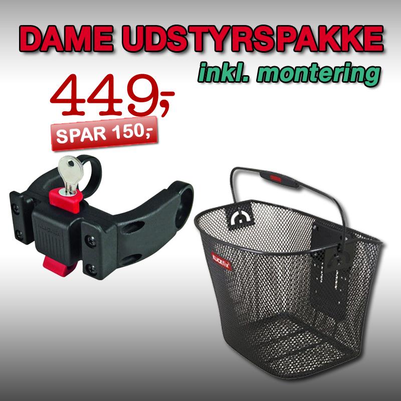 DAME Udstyrspakke 2 inkl. montering!