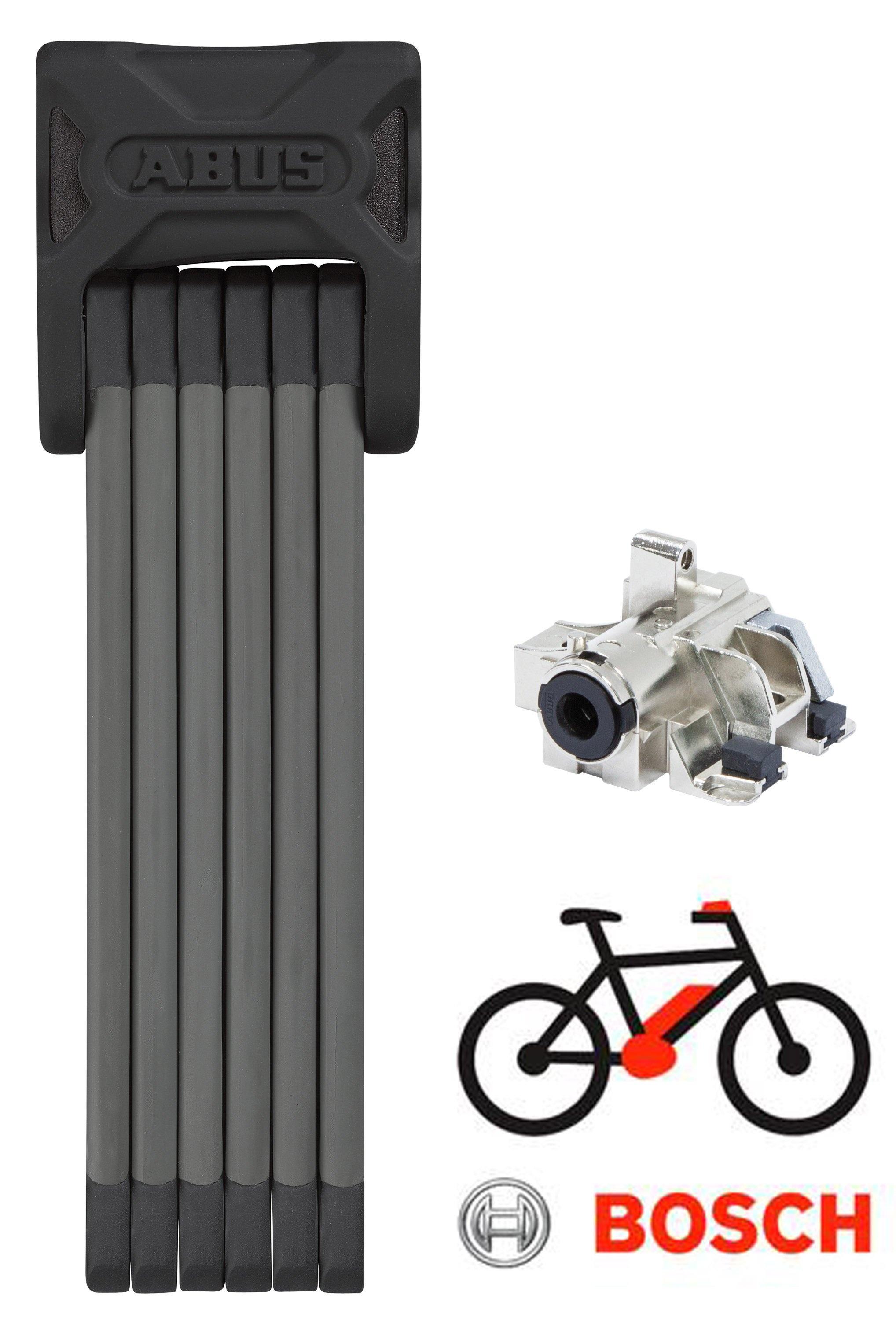 Abus Bordo 6015+Bosch RT EL-Cykel Batterilås til bagagebærer