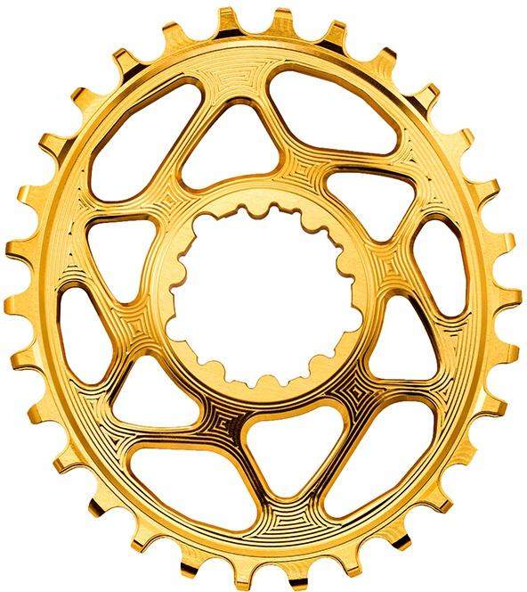 Køb AbsoluteBlack Chainring Direct Mount Singlespeed 36T – Oval – SRAM (Boost) – Guld