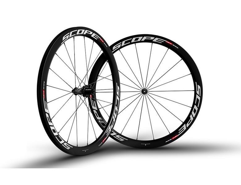 Scope R4C Carbon Hjulsæt - Hvid