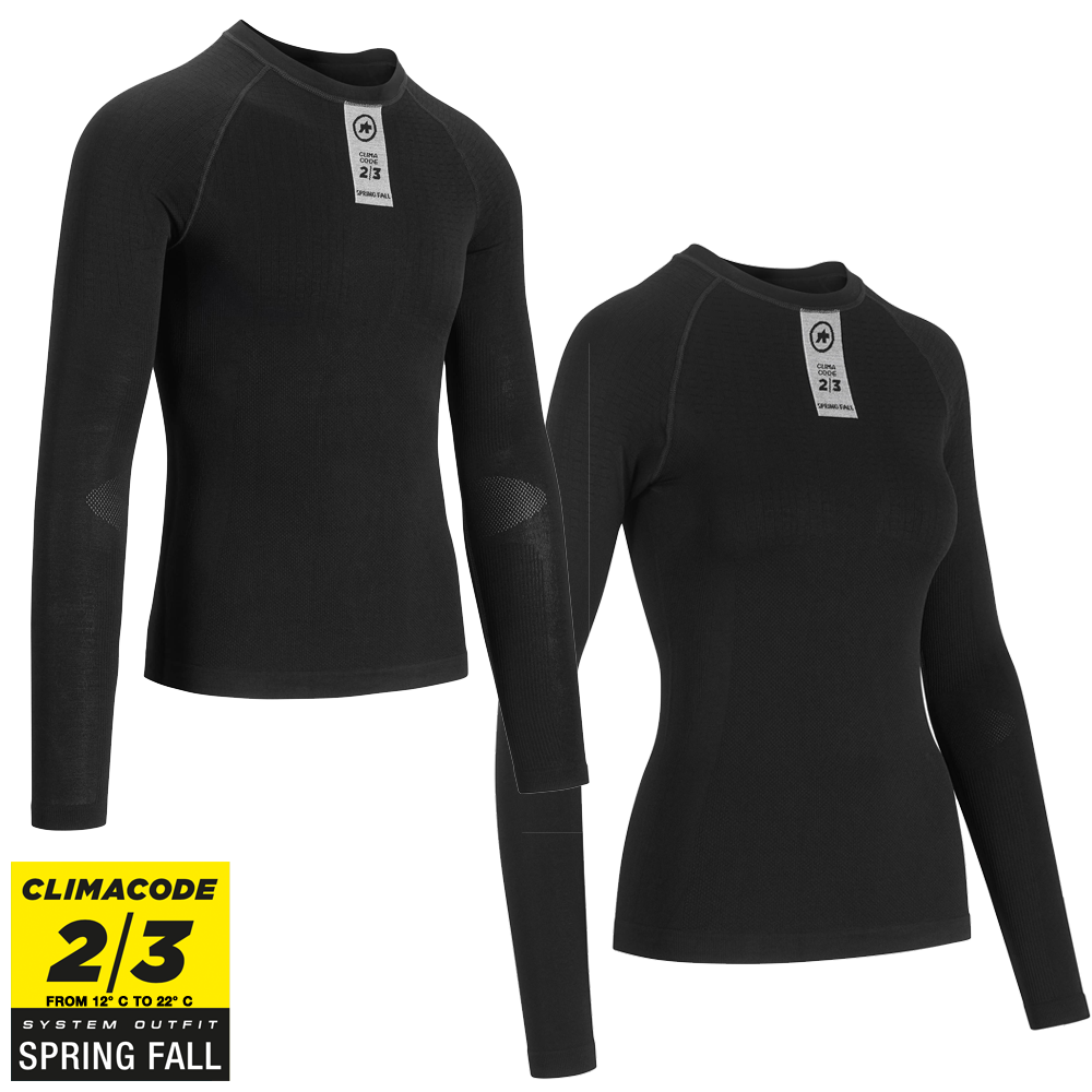 Assos Skinfoil LongSleeve Spring/Fall Base Layer - Sort