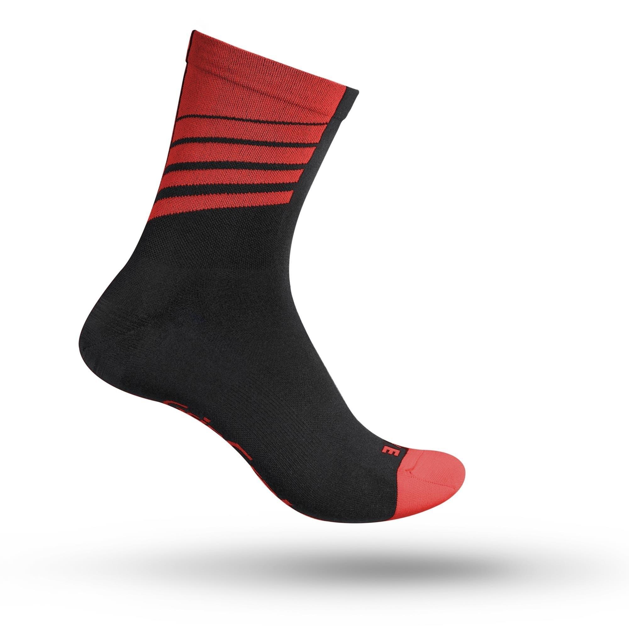 Gripgrab Gripgrab Racing Stripes Sokker - Rød Beklædning > Cykeltøj Til Herre