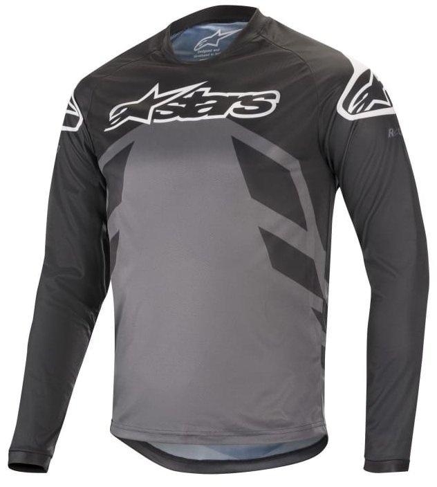 AlpineStars Racer V2 LS jersey MTB Bluse, Sort/Grå