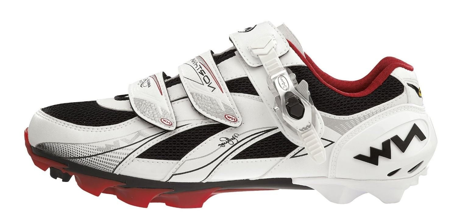 NorthWave Vega SBS Dame MTB-sko, white/red