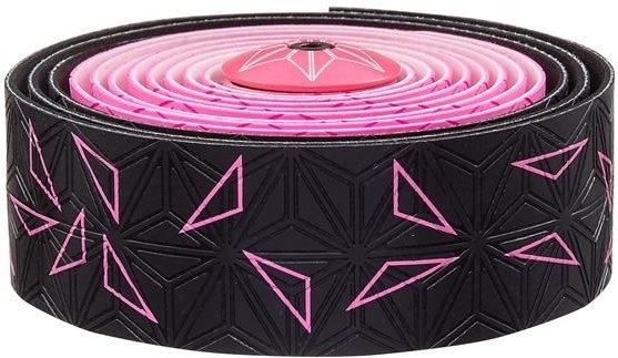 Supacaz Sticky KUSH Star Fade styrbånd - Sort/Pink