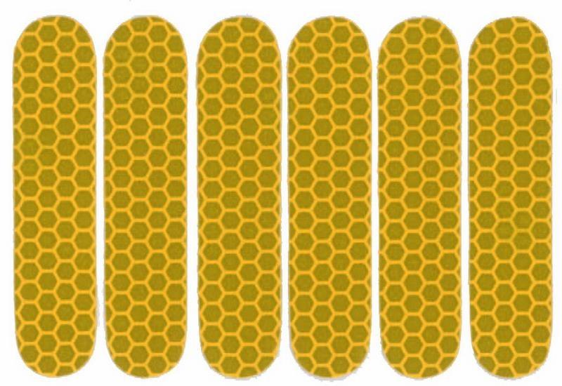 Refleksark Klistermærker - Gul