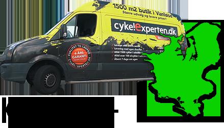 Levering af cykler på Sjælland