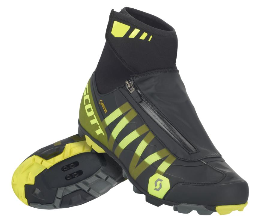 Scott MTB Heater Gore-Tex Herre Sko, black/yellow