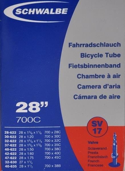 Schwalbe slange 28 x 28c-45c ventil SV17