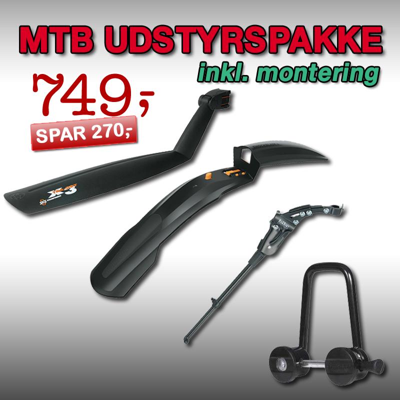 MTB Udstyrspakke 1 – 26″ / 27.5″ / 29″ inkl. montering!