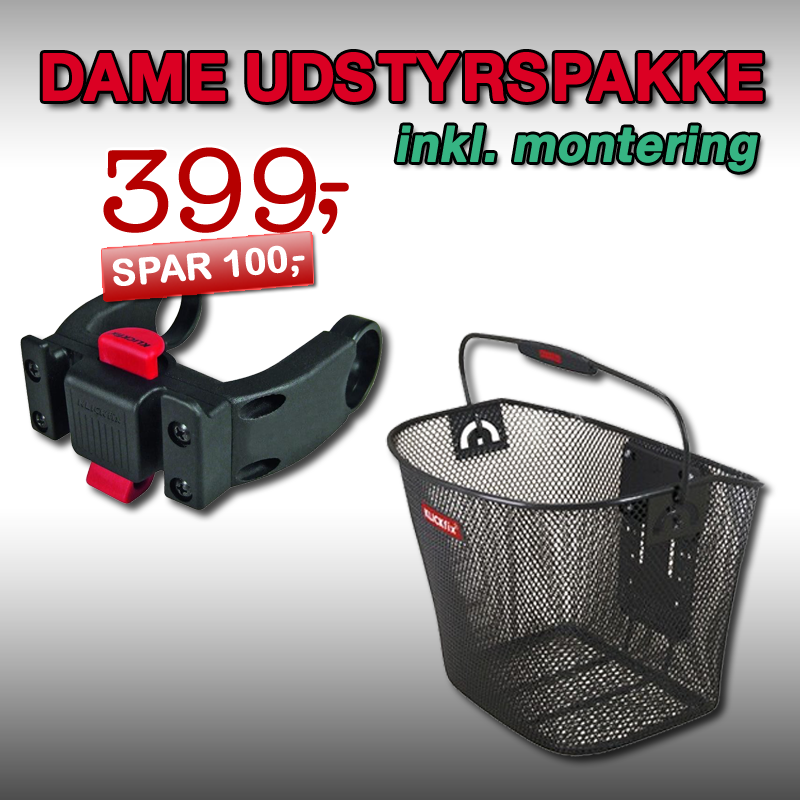 DAME Udstyrspakke 1 inkl. montering!