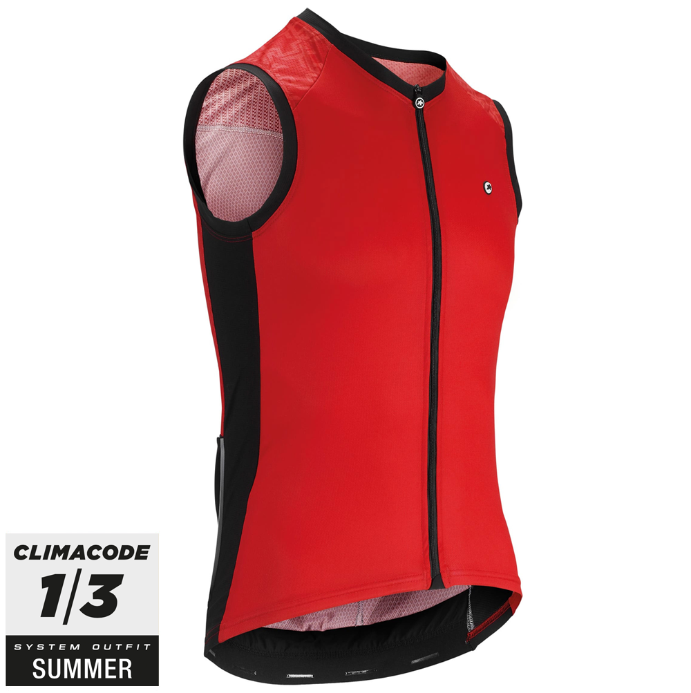 Assos Cykeltrøje Mille GT No Sleeve Jersey, Red  »  Cloth Size: M (Medium)