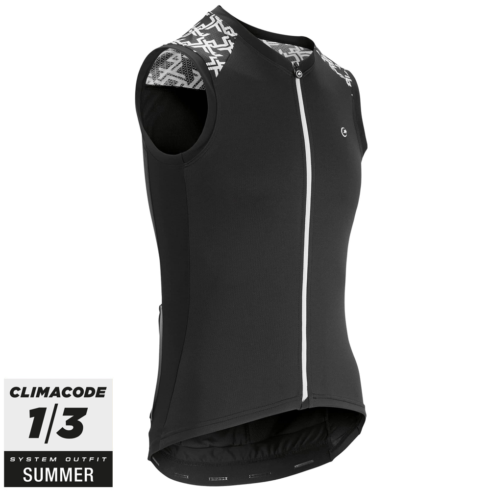 Assos Cykeltrøje Mille GT No Sleeve Jersey, Sort  »  Cloth Size: L (Large)