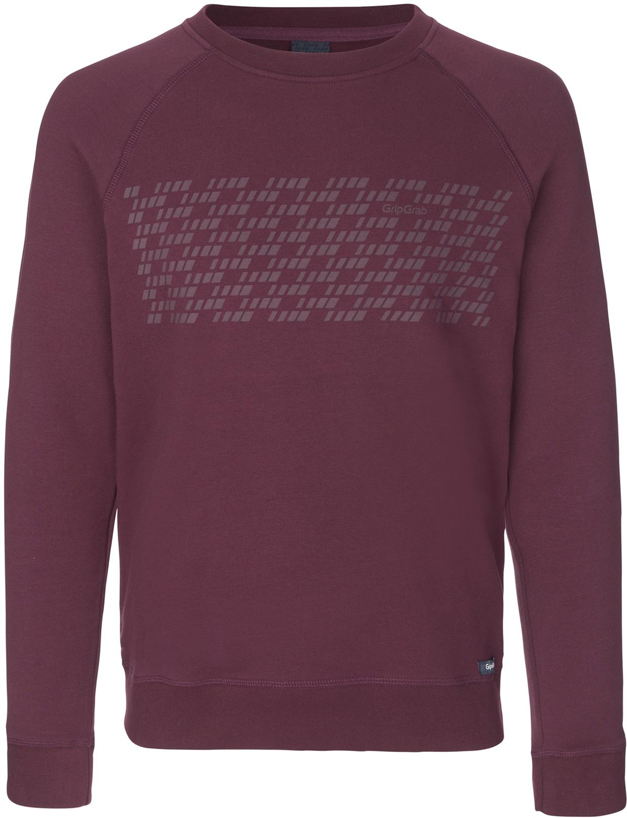 GripGrab 5th Element Langærmet Økologisk Bomuldssweatshirt - Mørk Rød