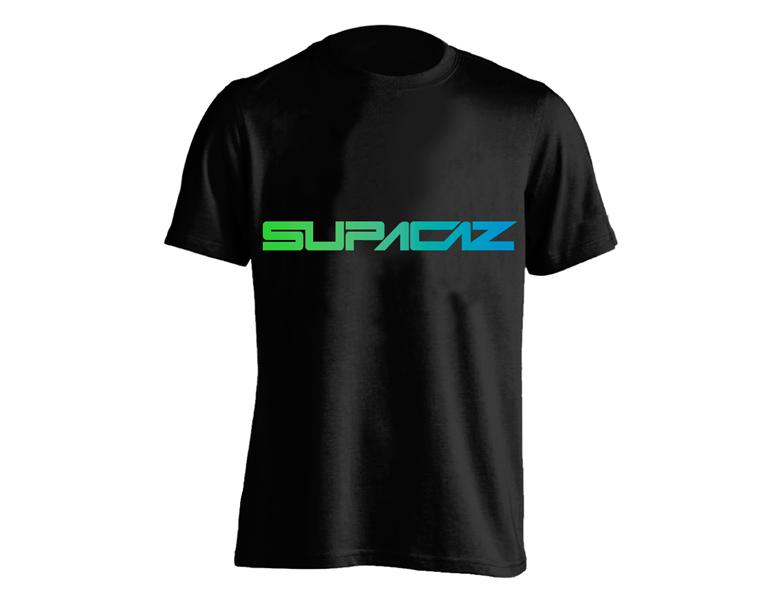 Supacaz T-shirt Feder - Sort/Grøn