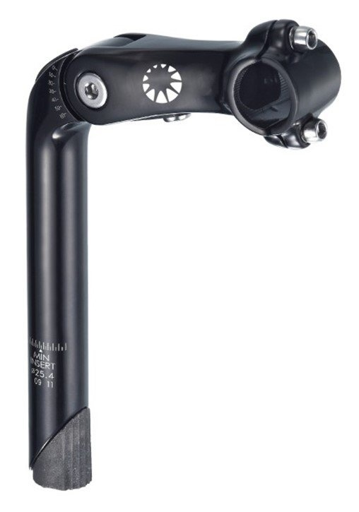 Bike Attitude Justerbar 180mm sort Styrstamme, 25.4mm x 110mm