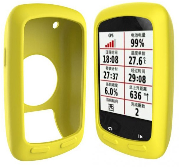 Garmin Edge 800/810 cover i silikone - Gul