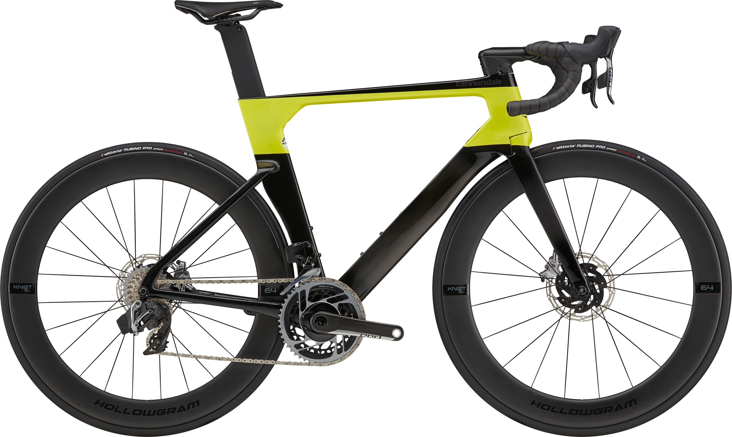 Cannondale SystemSix HiMod Red AXS Carbon 2021 - Sort/Gul