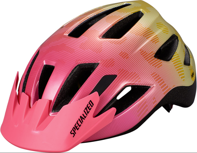 Specialized Shuffle Youth LED Mips cykelhjelm - Pink/gul
