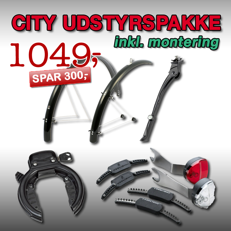 CITYBIKE Udstyrspakke 3 inkl. montering!