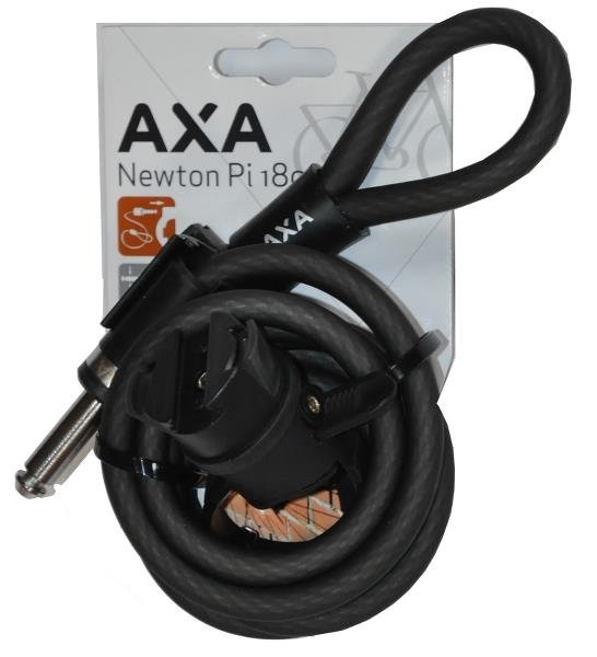 AXA Newton Spirallås Plug-In til Defender/SolidPlus 180cm/10mm