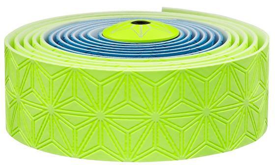 Supacaz Styrbånd Sticky KUSH Multi-Colored - Gul/Blå