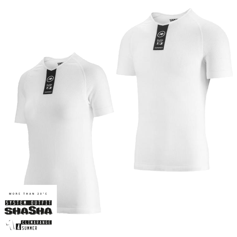 Assos Skinfoil ShortSleeve Summer Base Layer - Hvid