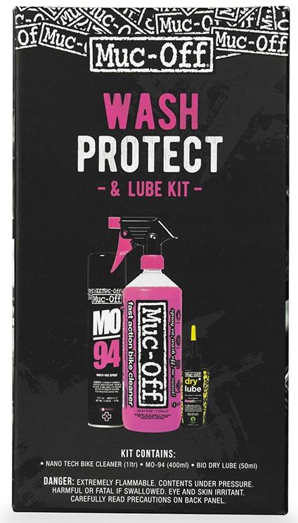 Køb Muc-Off Wash, Protect and Dry Lube Kit (Vask, Olie & Beskyttelse)