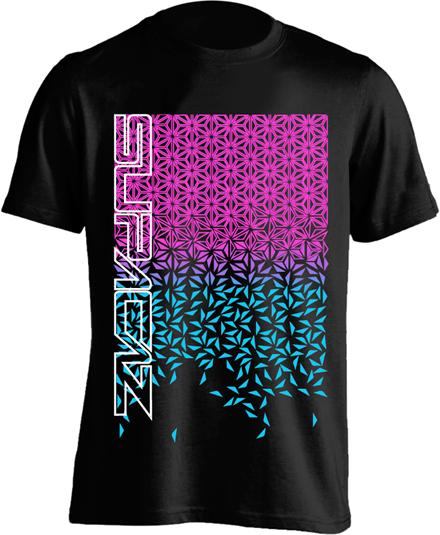 Supacaz T-shirt Star Fade - Sort/Pink/Turkis