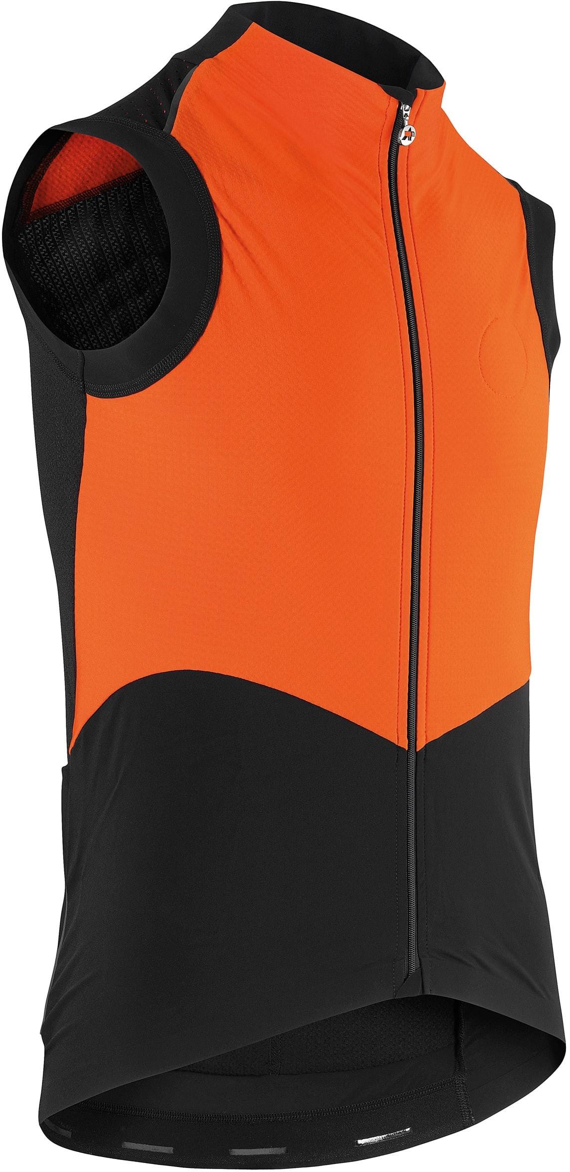 Assos Cykelvest tiburuGiletEquipe Spring/Fall Vest, Sort/Orange
