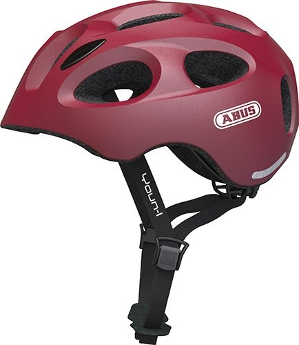 Abus Youn-I Hjelm m. LED lys - Cherry Red