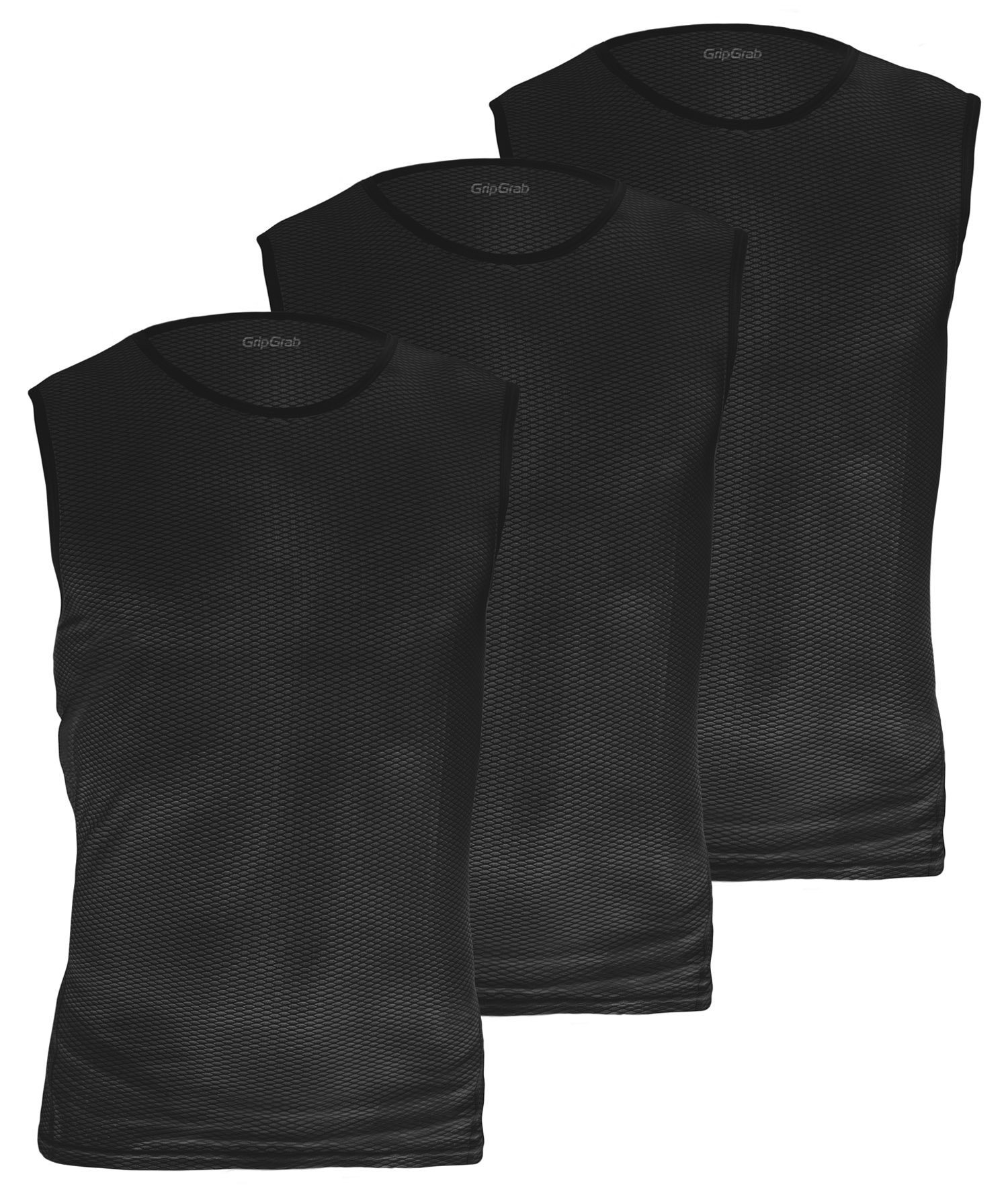 GripGrab Ultralight Ærmeløs Baselayer 3-Pak - Sort
