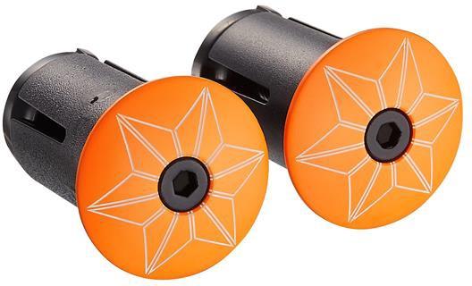 Supacaz Styrpropper Star Plugz Powder Coated - Orange