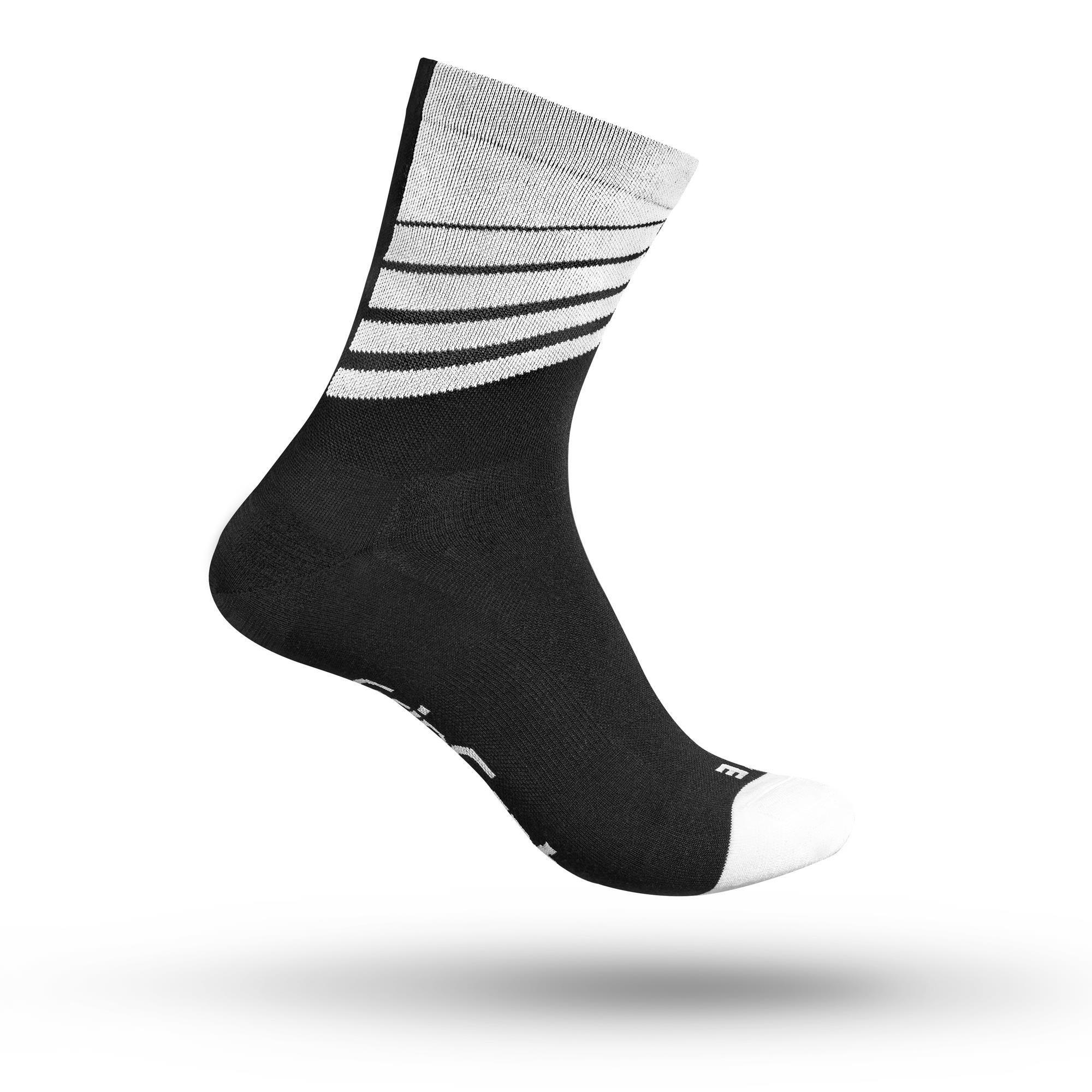 Gripgrab Racing Stripes Sokker - Sort