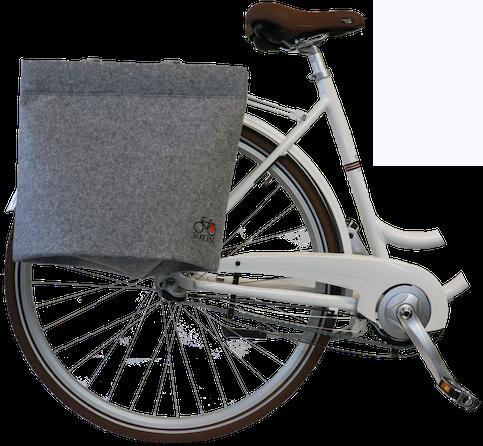 Bikezac taske filt - Grå