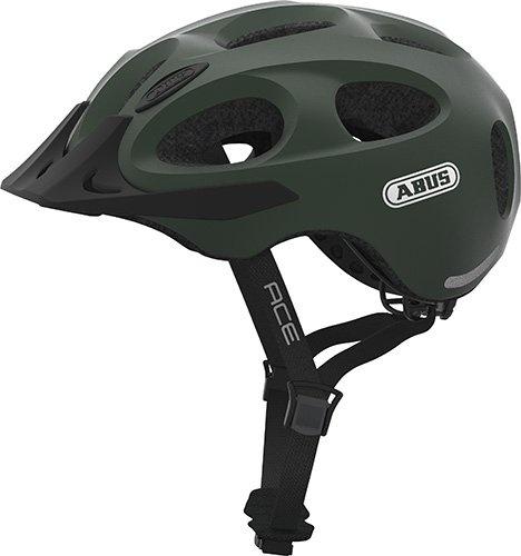 Abus Abus Youn-I Ace Hjelm M. Led Lys - Metallic Green Beklædning > Cykelhjelme