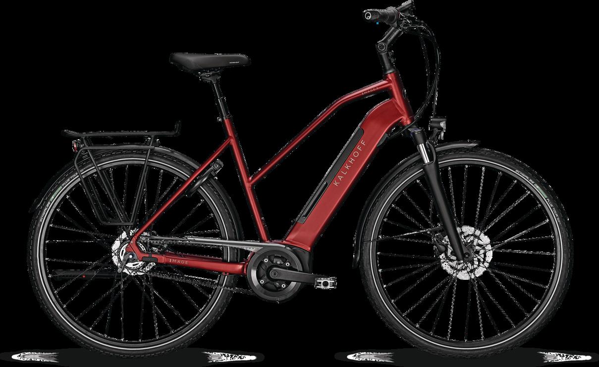 Kalkhoff Kalkhoff Image 3.B Excite Dame 2021 - Rød Cykler > Elcykler