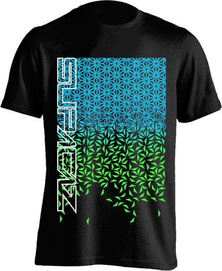 Supacaz T-shirt Star Fade - Sort/Turkis/Grøn