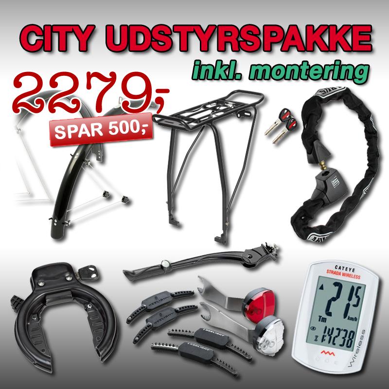 CITYBIKE Udstyrspakke 2 inkl. montering!