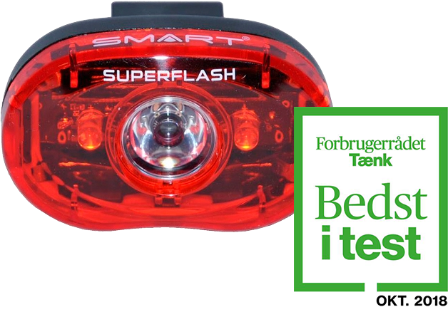 SMART Superflash 0.5 Watt baglygte (TESTVINDER)