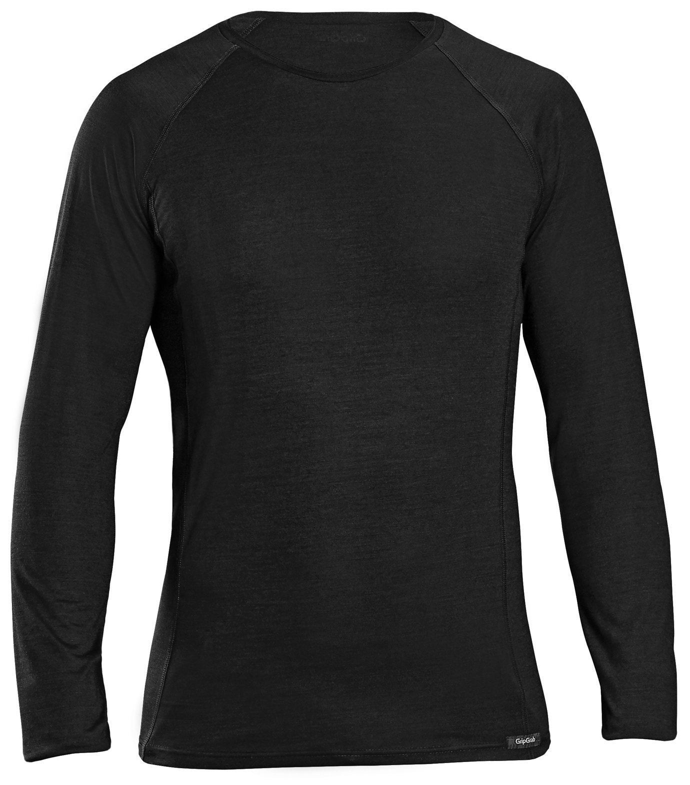 GripGrab Merino Polyfiber Langærmet Base Layer - sort