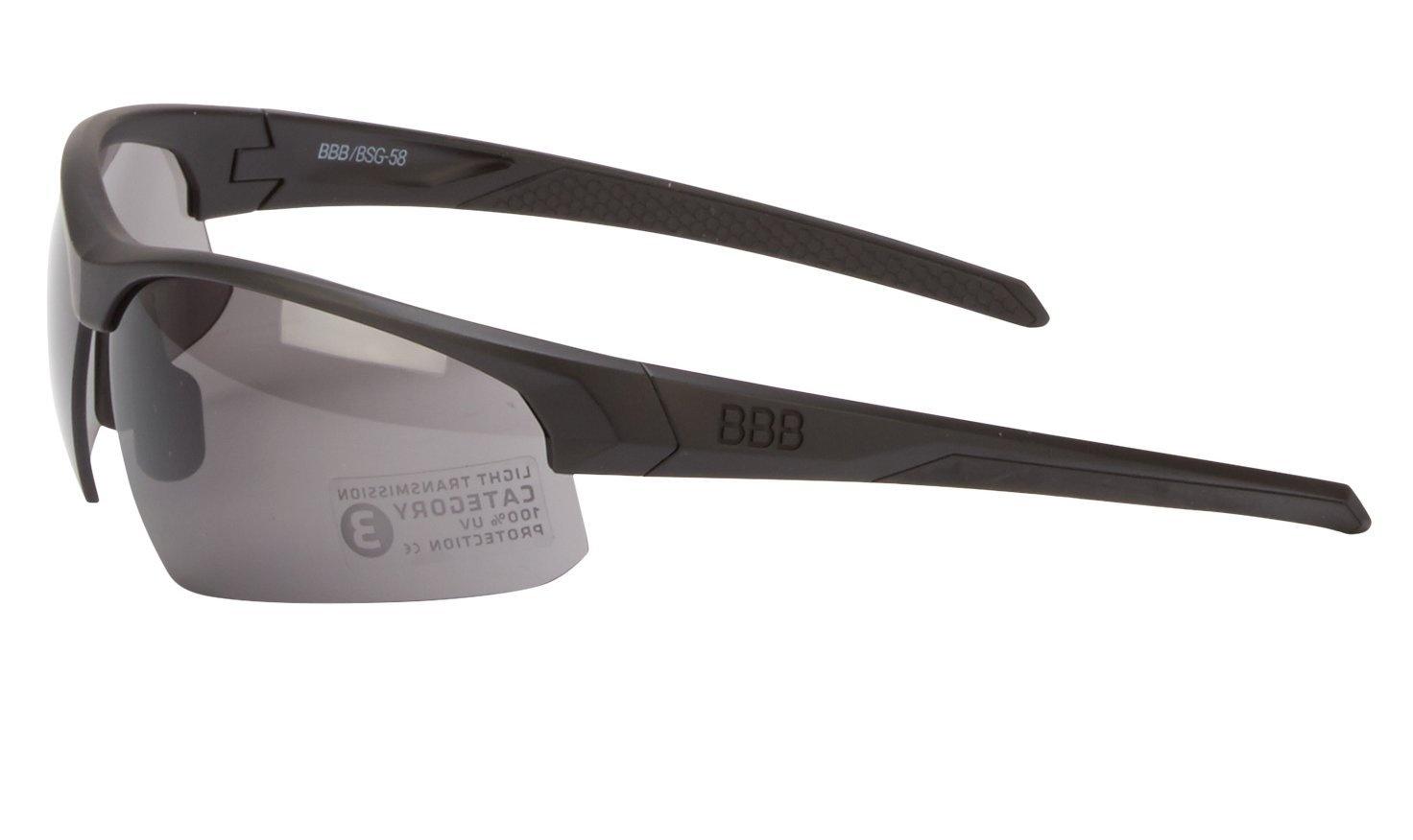 BBB Impress Cykelbriller med 3 sæt linser - Matsort
