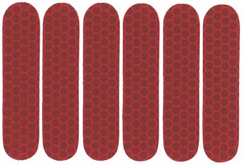 Refleksark Klistermærker - Rød